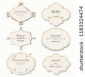 vector set vintage labels and... | Shutterstock .eps vector #1183324474