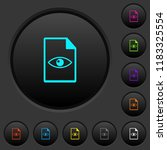 file preview dark push buttons...   Shutterstock .eps vector #1183325554