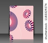 3d abstract colorful shape....   Shutterstock . vector #1183329274