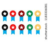 set flat icon medal | Shutterstock .eps vector #1183336081