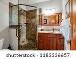 white modern bathroom features... | Shutterstock . vector #1183336657