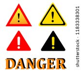 attention danger signal icon... | Shutterstock .eps vector #1183338301