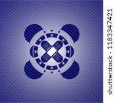 crossed bandage plaster icon... | Shutterstock .eps vector #1183347421