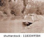 grand union canal man made... | Shutterstock . vector #1183349584