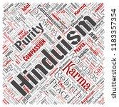 vector conceptual hinduism ... | Shutterstock .eps vector #1183357354