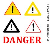 set attention danger signal... | Shutterstock .eps vector #1183359157