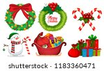a set of christmas element... | Shutterstock .eps vector #1183360471