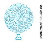 social media background. vector ... | Shutterstock .eps vector #118336105
