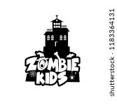 zombie party typography design... | Shutterstock .eps vector #1183364131