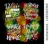 vector set of holidays... | Shutterstock .eps vector #1183365364