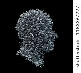 3d head shape made of white... | Shutterstock . vector #1183367227