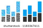 bar chart mosaic of dollar... | Shutterstock .eps vector #1183367611