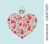 new years heart with ornament... | Shutterstock .eps vector #1183373257