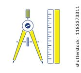 flat design icon of compasses...