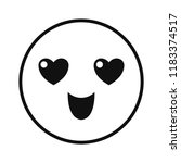 happy smiley emoticon hearts... | Shutterstock .eps vector #1183374517