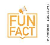 hand holding megaphone   fun... | Shutterstock .eps vector #1183381957