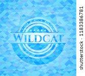 wildcat realistic sky blue... | Shutterstock .eps vector #1183386781