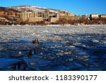 west point on a frozen hudson... | Shutterstock . vector #1183390177
