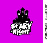 scary night design with... | Shutterstock .eps vector #1183391584