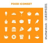 funny foods iconset with solid... | Shutterstock .eps vector #1183393201