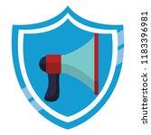 bullhorn advertising symbol | Shutterstock .eps vector #1183396981