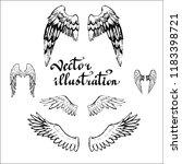 wings of an angel bird icon... | Shutterstock .eps vector #1183398721