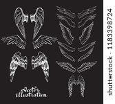 wings of an angel bird icon... | Shutterstock .eps vector #1183398724