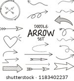 doodle arrow set   vector... | Shutterstock .eps vector #1183402237