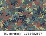 german flecktarn camouflage.... | Shutterstock .eps vector #1183402537