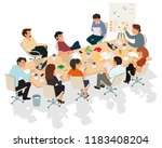 business meeting. presentation... | Shutterstock .eps vector #1183408204