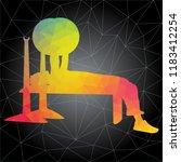 workout concept. vector... | Shutterstock .eps vector #1183412254