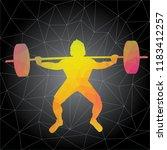 workout concept. vector... | Shutterstock .eps vector #1183412257