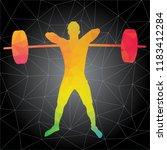workout concept. vector... | Shutterstock .eps vector #1183412284