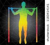 workout concept. vector... | Shutterstock .eps vector #1183414141