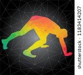 workout concept. vector... | Shutterstock .eps vector #1183414207