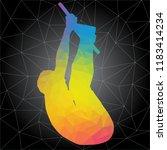 workout concept. vector...   Shutterstock .eps vector #1183414234