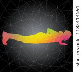 workout concept. vector...   Shutterstock .eps vector #1183414564
