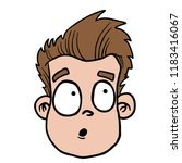 man with confused face cartoon... | Shutterstock .eps vector #1183416067