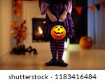 Little Girl In Witch Costume O...