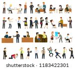 large set of vector flat... | Shutterstock .eps vector #1183422301