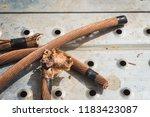 welding copper ground wire on... | Shutterstock . vector #1183423087