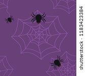 seamless pattern of black... | Shutterstock .eps vector #1183423384