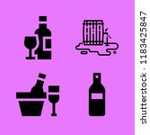 set of 4 wine filled icons such ... | Shutterstock .eps vector #1183425847