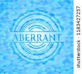 aberrant sky blue emblem.... | Shutterstock .eps vector #1183427257