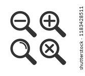 web loupe flat icon set.... | Shutterstock .eps vector #1183428511