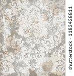 damask ornament pattern vector. ...   Shutterstock .eps vector #1183428811