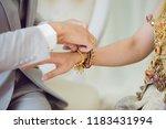 bride in thai traditional... | Shutterstock . vector #1183431994