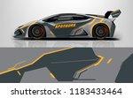 sport car racing wrap design....   Shutterstock .eps vector #1183433464