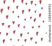 i love you romantic heart card. ... | Shutterstock .eps vector #1183434931