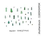 merry christmas tree happy new... | Shutterstock .eps vector #1183434934